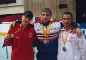 Тренер и чемпионы мира